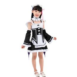 disfraz de carneros Rebajas ELBCOS RE Zero Life en un mundo diferente de Zero Kids Ram Rem Cosplay disfraz vestido delantal