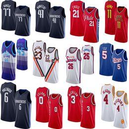 Camisa 45 on-line-NCAA Joel 21 Embiid Ben 25 Simmons 45 Mitchell Damian Lillard 0 Luka 77 Doncic 23 Williams 41 Nowitzki 3 McCollum College Basketball Jerseys