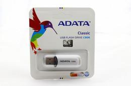 2019 Vendita Calda ADATA 32 GB 64 GB USB 2.0 Flash Drive Memory Stick Pen Drive Disk Thumbdrive Pendrives 80 pz da DHL Fedex cheap adata flash drive memory stick da bastone di memoria flash adata fornitori