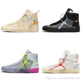 Commercio all'ingrosso 2019 Buona qualità arancione nero Blazer MID Grim Reepers scarpe da corsa Stripe Cavans THE TEN PRESTRO scarpe da basket da pattini all'ingrosso di buona qualità fornitori