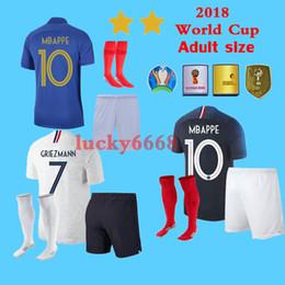 camisa ozil alemanha Desconto New 100TH 2018 World Cup camisas de futebol para adultos 18 19 France POGBA PAYET BENZEMA Griezmann MBAPPE kit camisa de futebol camisas maillot De pé
