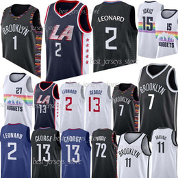 2019 maillot 27 NCAA LA 2 Leonard 1 Russell 13 George 11 Irving Jersey 7 Durant maillots de basketball 15 Jokic 27 murray 2019 maillots promotion maillot 27