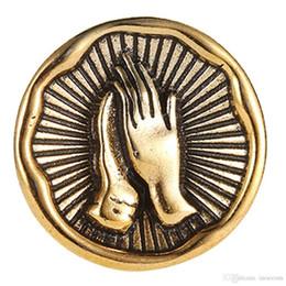 2019 argentati in metallo argento Spilla a mano retrò Spilla Collare a spilla Distintivo d'epoca in metallo dorato Argento Spille con risvolto per le donne Accessori per le bambine argentati in metallo argento economici