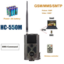 2019 controllo della telecamera sms Macchina fotografica di caccia di visione notturna HC550M 2G GSM SMS Cacciatore Trail Trail Trap 16MP foto Pir Sensore MMS Email Infrared Wildlife Camera
