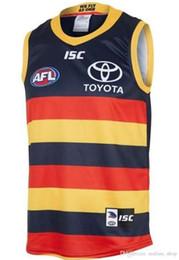 DHL LIBERA il trasporto 2019 2020 Adelaide Crows HOME Rugby Maglie AFL Adelaide Crows maglia singoletto maglia camicia gilet s-3xl cheap dhl vests da giacche da giacca fornitori