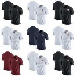 Windjacke polo online-Orleans Pittsburgh York Cincinnati Washington Herren Redskins Bengals Riesen Steelers Saint Early Season Polo-Shirt
