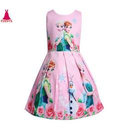 vestidos de adolescente roxos Desconto Trajes de verão crianças princess dress meninas dress crianças vestidos de festa cosplay vestidos de menina 3-8 t