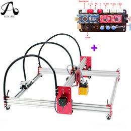 2019 cabeças de caneta a laser Máquina de gravação a laser CNC Impressora de imagens DIY, área de trabalho 45cmx45cm, 500mw / 2500mw / 5500mw / 15w laser Router CNC máquina de corte