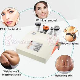 máquina de estiramiento de la piel rf libre Rebajas ¡Envío gratis! Aprobado por CE 40 K Cavitación ultrasónica Forma del cuerpo Aspiración al vacío Adelgaza Fotón RF Piel Tighting Beauty Machine