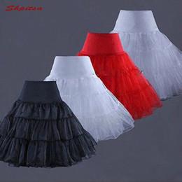 Черные красные белые короткие свадебные платья онлайн-Черный Красный Белый Синий Тюль Короткая Юбка Лолита Майка для свадебного платья Crinoline Girl Woman Hoop