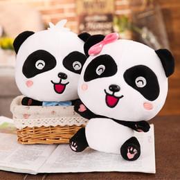 desenhos animados da panda do natal Desconto 9 PCS 35 cm Bonito Panda Gigante Panda Stuffed Animal Grande Brinquedos De Pelúcia Hobbies Panda Dos Desenhos Animados Bonecas para Crianças Presente de Natal Aniversário AIJILE