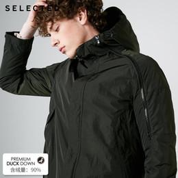2019 boné de sopro preto Jaqueta de pato com capuz de inverno de duas peças SELECTED Men's Down Jacket | 419112506