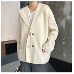 c48697352a Women Cardigans Thick Sweater Jumper Casual Lady Solid Color Long Coat  Sweater Winter Knitted Loose Coat With Pockets