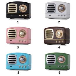 2019 flash drives linterna Clásico Retro Vintage Inalámbrico Bluetooth Altavoces Innovador Radio Portátil Mini Altavoz Estéreo Bajo Profundo FM U disco TF Subwoofer de Manos Libres