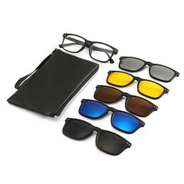 1bfe7b57e06 New Include Frame Polarized Clip On Sunglasses Men TR90 Custom prescription  lenses Magnetic clips night glasses drive Magnet
