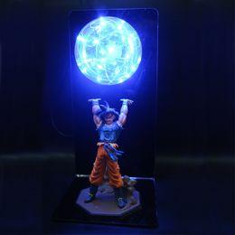 Dragon Ball Z Action Figures Goku Son Figurine Da collezione Modello Anime FAI DA TE Bambole Lampada LED per Bambini Giocattoli di Natale per bambini Y190529 cheap anime lamps da lampade anime fornitori