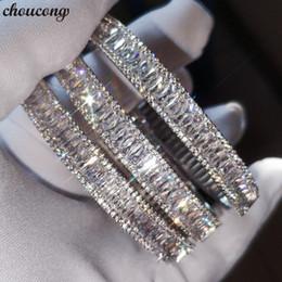 Bracelet avec breloque Vécalon Taille Baguette 5A zircone cubique Or blanc rempli de fiançailles ? partir de fabricateur