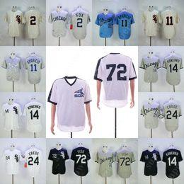 72 Carlton Fisk Jersey 14 Paul Konerko 24 Joe Crede 2 Nellie Fox 11 Luis  Aparicio Baseball Jerseys White Black Grey ee525cc9a