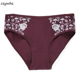 plus größe baumwollschlüpfer Rabatt 2XL 3XL 4XL Womens Cotton Print Slips Plus Size Panties Atmungsaktives Dessous Höschen Sexy Frauen High Rise Unterwäsche Intimates
