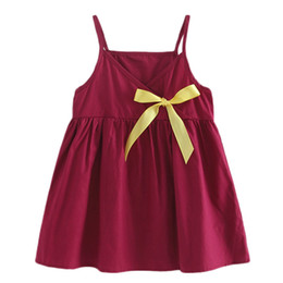 robe rouge v cou bowknot Promotion