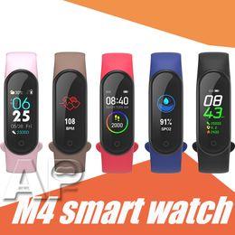 2019 lg smart band M4 intelligente Bracciale Fitness Tracker Sport Smartwatch pressione arteriosa frequenza cardiaca 0.96 pollici con imballaggio al minuto