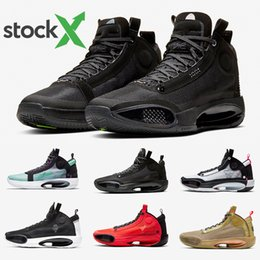 sapatilhas da neve dos homens Desconto Nike Air Jordan Retro Stock X Black Cat 34 mens basketball shoes CNY Snow Leopard Infrared 23 Amber Rise Blue Void Eclipse 34s men sports designer sneakers