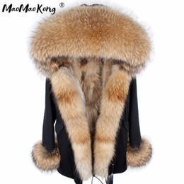 modelos femeninos delgados negros Rebajas abrigo de mapache pelo natural invierno de la señora, capa de la chaqueta caliente, piel de zorro verdadera, fabricantes directa mayoristas y minoristas