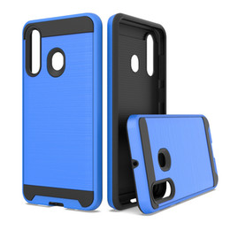 Amortecedor da fibra do carbono do iphone on-line-Para Hydro Reac / Shore / Vista Huawei Y9 2019 P SMART 2019 Y7 2019 Escovado Fibra De Carbono Duro Armadura Bumper Capa Coque Rugged Capa Caso Fundas
