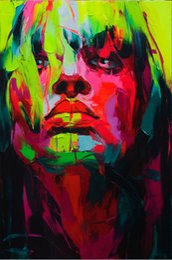barco al atardecer pintura al óleo Rebajas Retrato moderna 100% puro aceite Pintura Handworked Francoise Nielly cuchillo de gama de impresión Inicio Obras cóncavas y convexas textura Face223