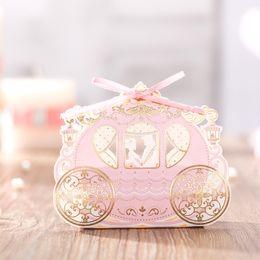 Canada 10 / 30pcs Creative mariage boîte de sucre boîte de bonbons rose princesse château vent européen Sugar pour désherber décorations cheap european wedding decorations Offre