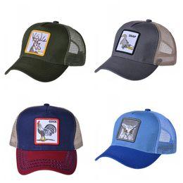 2019 frau sommer tuch hüte Sommer Mesh Tuch Belüftung Baseball Cap Hahn Tier Stickerei Snapback Männer Und Frauen Mode Hüte Heißer Verkauf 8 8yt I1 günstig frau sommer tuch hüte