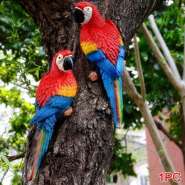 giardino di sculture Sconti Life Like Bird Ornament Figurine Pappagallo Modello Toy Lawn Sculpture Garden Decor Q190525