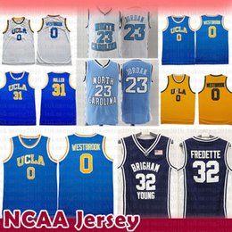 fd01e52e095a Russell 0 Westbrook Reggie 32 Miller Campus bear UCLA 23 Michael North  Carolina Jerseys Jimmer 32 Fredette Brigham Young Cougars NCAA Jersey cheap  carolina ...