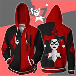 e9a24aa3 DC Отряд самоубийц 3D печати кофты Джокер Харли Квинн мода хип-хоп толстовки  повседневная Zip куртка косплей Мужская одежда пальто
