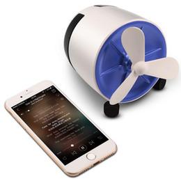 Avions de ventilateur en Ligne-Haut-parleur Bluetooth Haut-parleur de ventilateur supérieur et stéréo avec haut-parleur portatif sans fil portable à hélice avec emballage de vente au détail et livraison gratuite