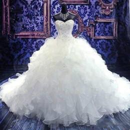 2019 robes de bal de mariage corset 2019 robes de mariée brodées de perles vintage pas cher princesse robe chérie corset organza cathédrale église robe de mariée robe de mariée robes de bal de mariage corset pas cher