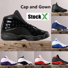 Tappi superiori online-2019 New hot cap and gown 13 13s scarpe da basket da uomo allevate cool flint grigio He Got Game playoff sneakers da uomo di alta qualità
