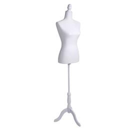 suportes para displays em tecido Desconto Mulheres Manequim Branco Profissional Meia-Espuma de Espuma De Tecido Escovado Revestimento Modelo Senhora para Vestuário Display Stand