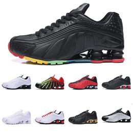 homens, correndo, sapato, shox Desconto 2019 Shox R4 Das Mulheres Dos Homens Tênis de Corrida de Alta Qualidade NEYMAR OG COMETE RED RACER AZUL Metallic Mens Formadores Tênis De Basquete Esportes Sneakers