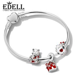 68811a0c8 Discount sterling house - EDELL 100% 925 Sterling Silver Holiday Bracelet  Set WARM COCOA CHARM