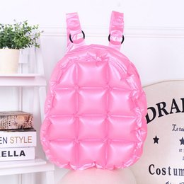 blow bags Coupons - Fashion Inflated Women Jelly Backpack Summer PVC Waterproof Candy Beach Bag Girls Travel Blow Up School Bag Diamond Shoulder