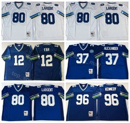 df157519f Chinese Seattle Seahawks Vintage 80 Steve Largent Jersey Men 37 Shaun  Alexander 96 Cortez Kennedy 12