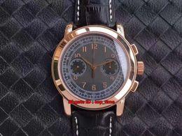 Orologi complicazioni online-7 orologi Best Watch Cronografo Manuale Wind ETA7750 meccanico Mens Watch 5070R Cinturino in pelle oro rosa Orologi da uomo