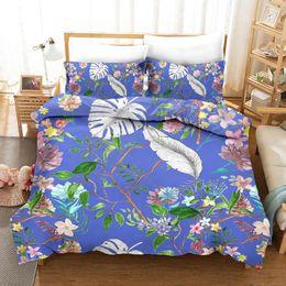 flores rojas ropa de cama verde Rebajas Plantas Flores KTLRR cama determinada de las hojas de la cubierta del Duvet tropicales Textiles para el Hogar 3-pieza verde Ropa de cama Blanco Rojo