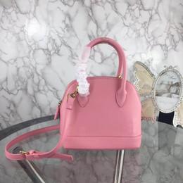2019 ethnischen stil handtasche großhandel Mode Luxus Designer Frau Mini Shell Handtasche Strap Cross Body Umhängetaschen Classic High Quality Echtes Leder Taschen Geldbörse Tote Pink 22