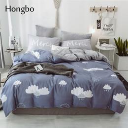 Hongbo Juegos de cama de franela de cristal Sábanas con funda nórdica con patrón de sábanas Sábanas ajustadas desde fabricantes