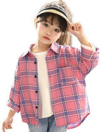 i nuovi bambini di stile di autunno 2019 fioriscono la maglietta del cardigan della maglietta maniche lunghe per i vestiti della ragazza degli studenti da nuovi stili della maglietta fornitori