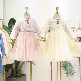 5350 Prenses Nakış Bebek Kız Elbise Noel Yeni Güz Parti Düğün Çocuk Elbise Kız Için Toptan Şükran Giysileri supplier wholesale fall dresses nereden toptan sonbahar elbiseleri tedarikçiler