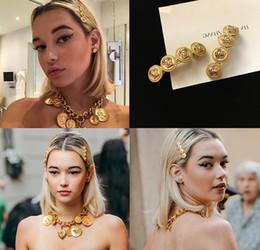Clip pony online-Brand Gold Haarspangen Walking Show Haarnadel Pony Clip weibliche alte Textur Yajin Wort Clip Haarschmuck