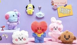 7pcs / lot livre bts transporte bt21 20 centímetros brinquedo de pelúcia de Fornecedores de hoodie de venda quente